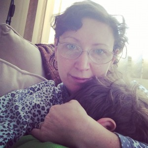 Me and my guy snuggling on New Year's Day.  #365FeministSelfie