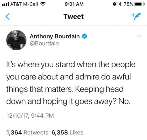 Bourdain tweet